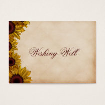 Rustic Sunflower Wedding Business Card