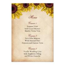Rustic Sunflower Wedding Card