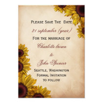 Rustic Sunflower Wedding Card