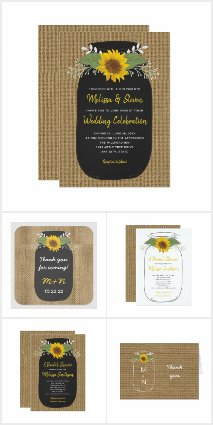 Rustic Sunflower Wedding Collection