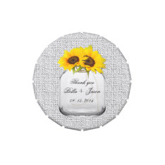 Rustic sunflower wedding favors sunflwr8 jelly belly candy tins at Zazzle