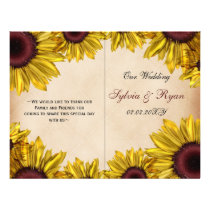 Rustic Sunflower Wedding Flyer
