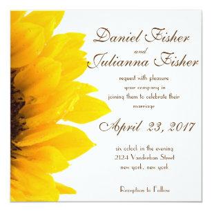 Rustic Sunflower Wedding Invitations Announcements Zazzle
