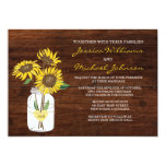 "Rustic Sunflower Wedding Invitation 5"" X 7"" Invitation Card"