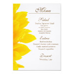 Rustic Sunflower Wedding Menu Card