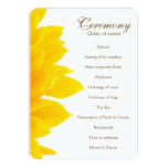 Rustic Sunflower Wedding Program