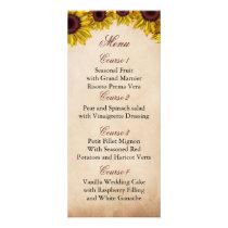 Rustic Sunflower Wedding Rack Card