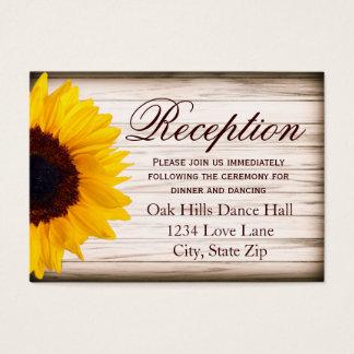 Rustic Sunflower Wedding Reception Enclosure Card