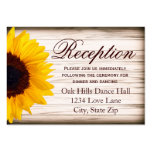 Rustic Sunflower Wedding Reception Enclosure Card Large Business Card
