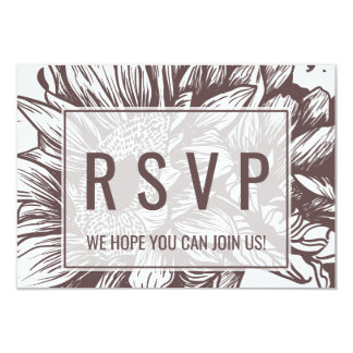 Rustic Sunflower Wedding Website RSVP Card
