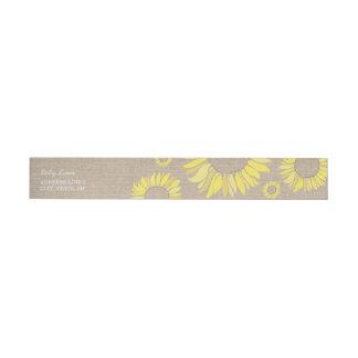 Rustic Sunflower Wrap Around Return Address Label