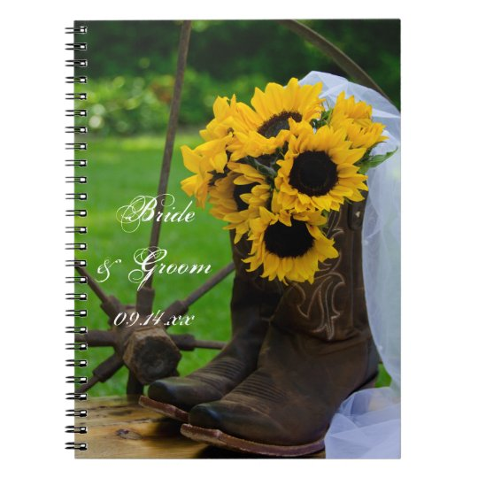 Rustic Sunflowers And Cowboy Boots Country Wedding