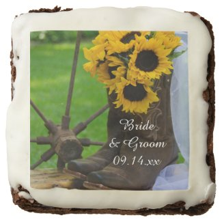 Rustic Sunflowers and Cowboy Boots Western Wedding