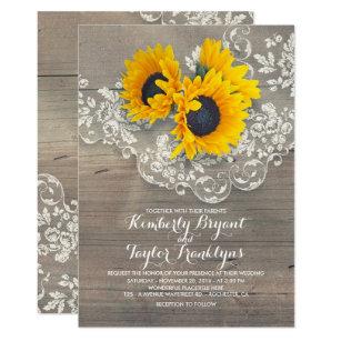 Sunflower Wedding Invitations Announcements Zazzle