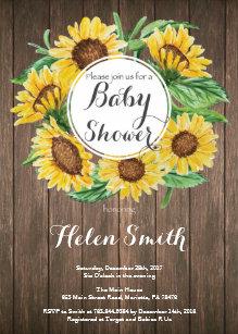 Sunflower baby shower invitations zazzle rustic sunflowers baby shower invitation filmwisefo