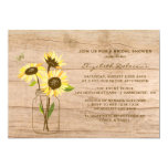 Rustic Sunflowers Bridal Shower Invitation at Zazzle
