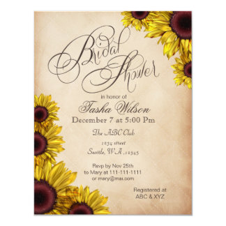 Country Chic Bridal Shower Invitations Announcements Zazzle