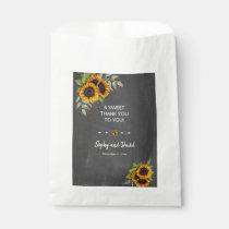 Rustic Sunflowers Chalkboard Wedding THANK YOU Favor Bag