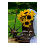 Rustic Sunflowers Country Wedding Favor Tags Large Business Cards (Pack Of 100)