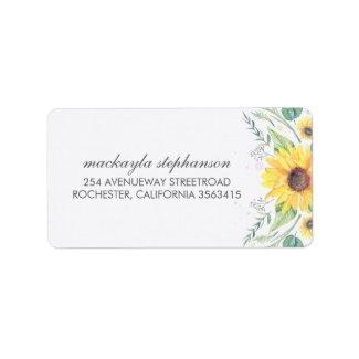 Rustic Sunflowers Wedding Labels