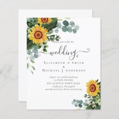 Rustic Sunflowers Eucalyptus Leaves Wedding