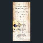 """Rustic Sunflowers Mason Jar Wedding Programs<br><div class=""""desc"""">Rustic Country Sunflowers Mason Jar Wedding Program Template. Two Sided Vertical Wedding Program. Room for your order of ceremony on the front and your wedding party on the back. Add a personal note from the bride and groom at the bottom. Matching products can be found at: http://www.zazzle.com/collections/sunflowers_in_mason_jars_wedding_invitation_set-119544412182070010 wedding program, vertical...</div>"""