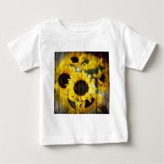 Rustic Sunflowers on Barnwood Baby T-Shirt