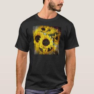 Rustic Sunflowers on Barnwood T-Shirt