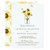 Rustic Sunflowers on Mason Jar Wedding Invitation (<em>$2.01</em>)