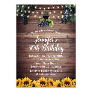 sunflower birthday invitations zazzle