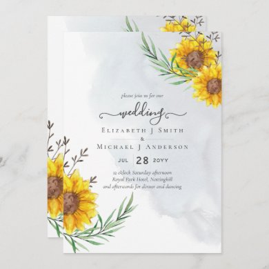 Rustic Sunflowers Woodland Barn Budget Wedding