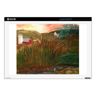 Rustic Sunset on the Farm Decal For Laptop