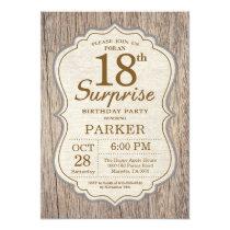 Rustic Surprise 18th Birthday Invitation Wood
