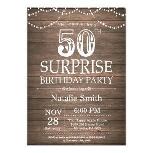 surprise 50th birthday invitations zazzle