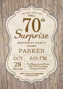 surprise 70th birthday invitations zazzle