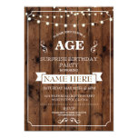 Rustic Surprise Birthday Party Any Age wood Invite