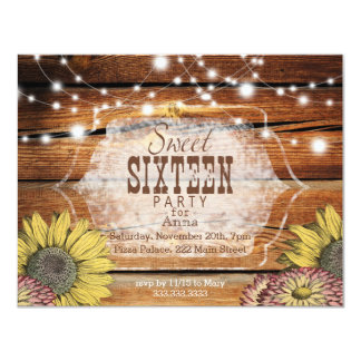 Rustic Sweet Sixteen Party Invitation
