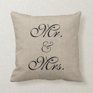 Rustic Sweetheart Table Pillow