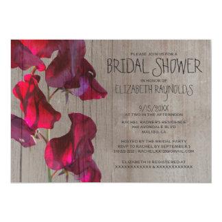 Rustic Sweetpea Bridal Shower Invitations
