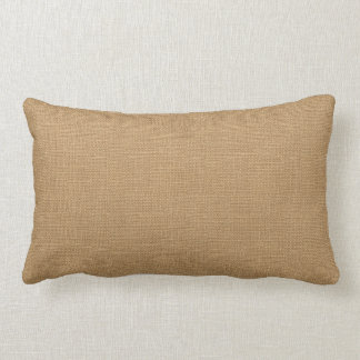 Rustic Tan Faux Burlap Accent Pillow