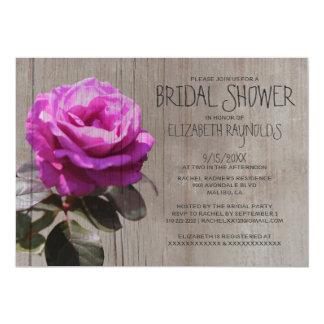 Rustic Tea Rose Bridal Shower Invitations Invite