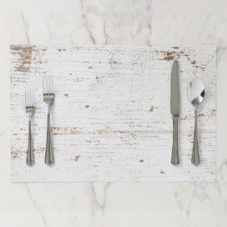 Rustic Tearaway Paper Placemat - Distressed Wood