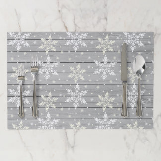 Rustic Tearaway Paper Placemat - Snowflake Plank2
