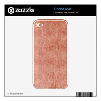 Rustic Terra Cotta Skin For iPhone 4S