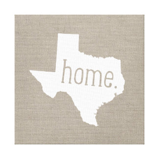 Rustic Texas Home State Wrapped Canvas Art Print