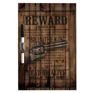rustic texas star cowboy western country dual gun Dry-Erase board