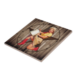rustic texas star fashion western country cowgirl ceramic tile