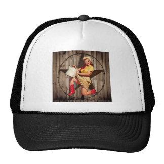rustic texas star fashion western country cowgirl trucker hat