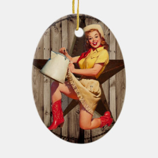 rustic texas star fashion western country cowgirl christmas ornaments