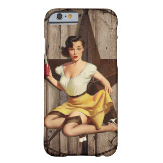 rustic texas star pin up cowgirl western country barely there iPhone 6 case